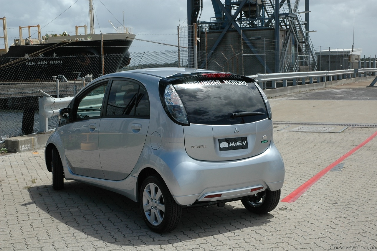 mitsubishi imiev mitsubishi electric car lands in