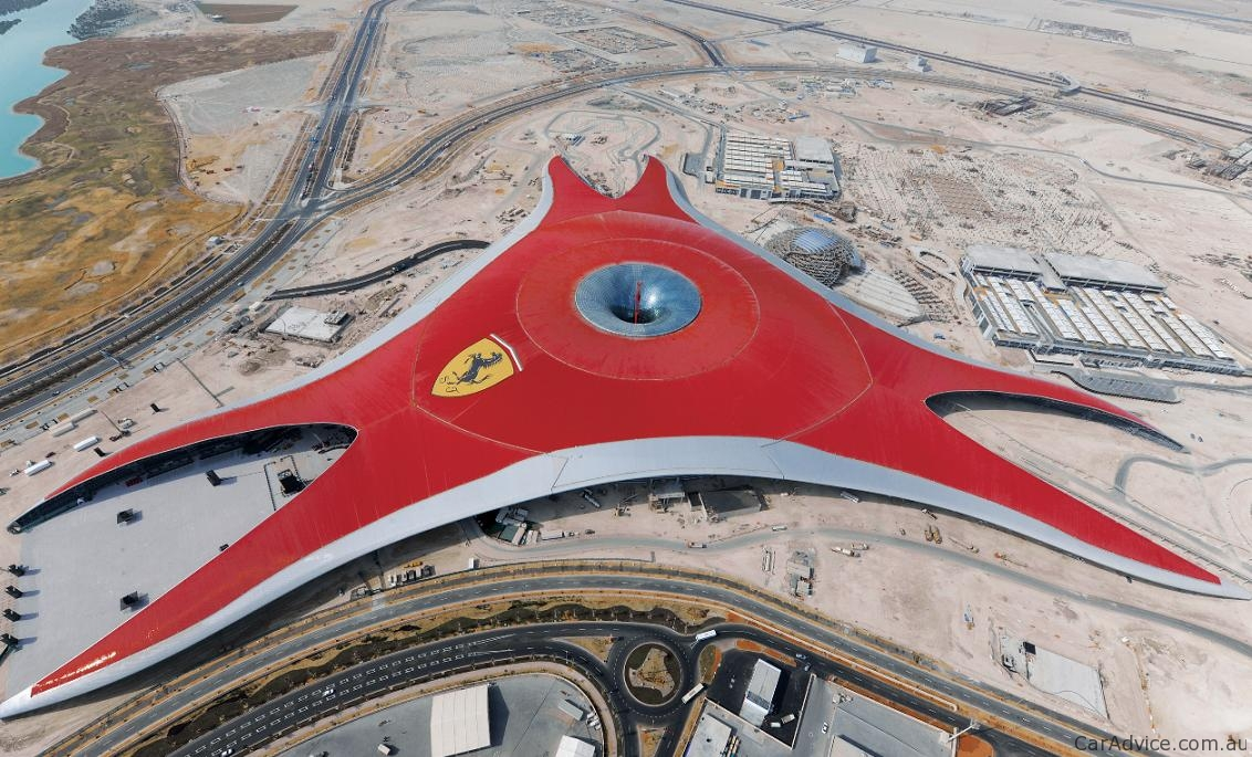 video ferrari world abu dhabi opens to public photos 1 of 5. Black Bedroom Furniture Sets. Home Design Ideas
