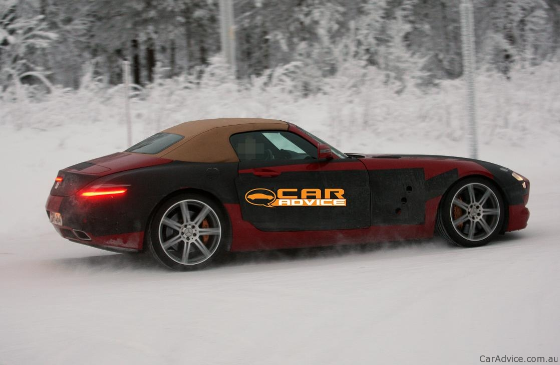 2011 Mercedes Benz Sls Amg Roadster Spy Shots Photos 1