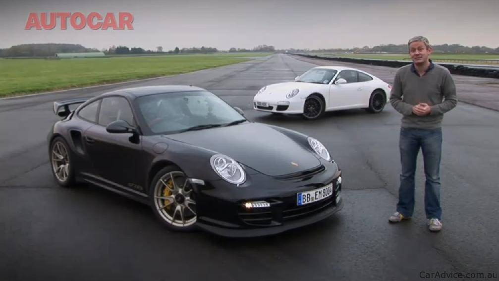 video porsche 911 gt2 rs vs porsche 911 carrera s comparison photos 1 of 1. Black Bedroom Furniture Sets. Home Design Ideas