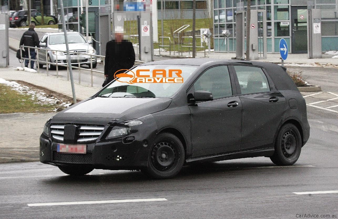 2011 mercedes benz b class spy shots reveal more detail for Mercedes benz detailing