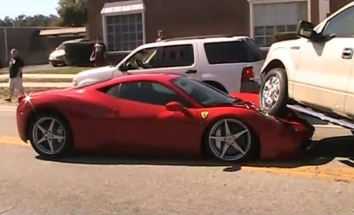 Ferrari 458 italia crushed by ford f150 photos 1 of 2 ferrari 458 italia crushed by ford f150 vanachro Gallery