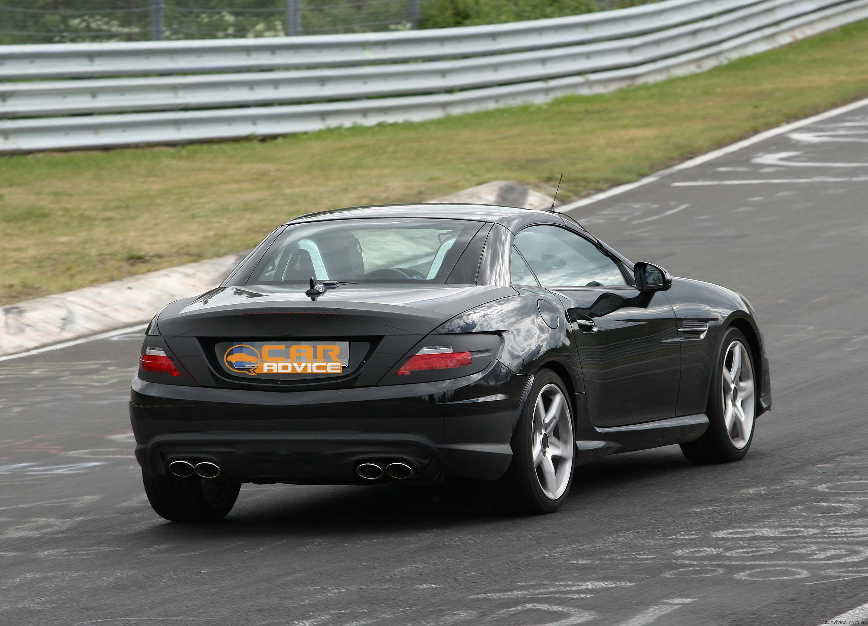 2012 mercedes benz slk 55 amg spy shots almost reveal all for Sell my mercedes benz
