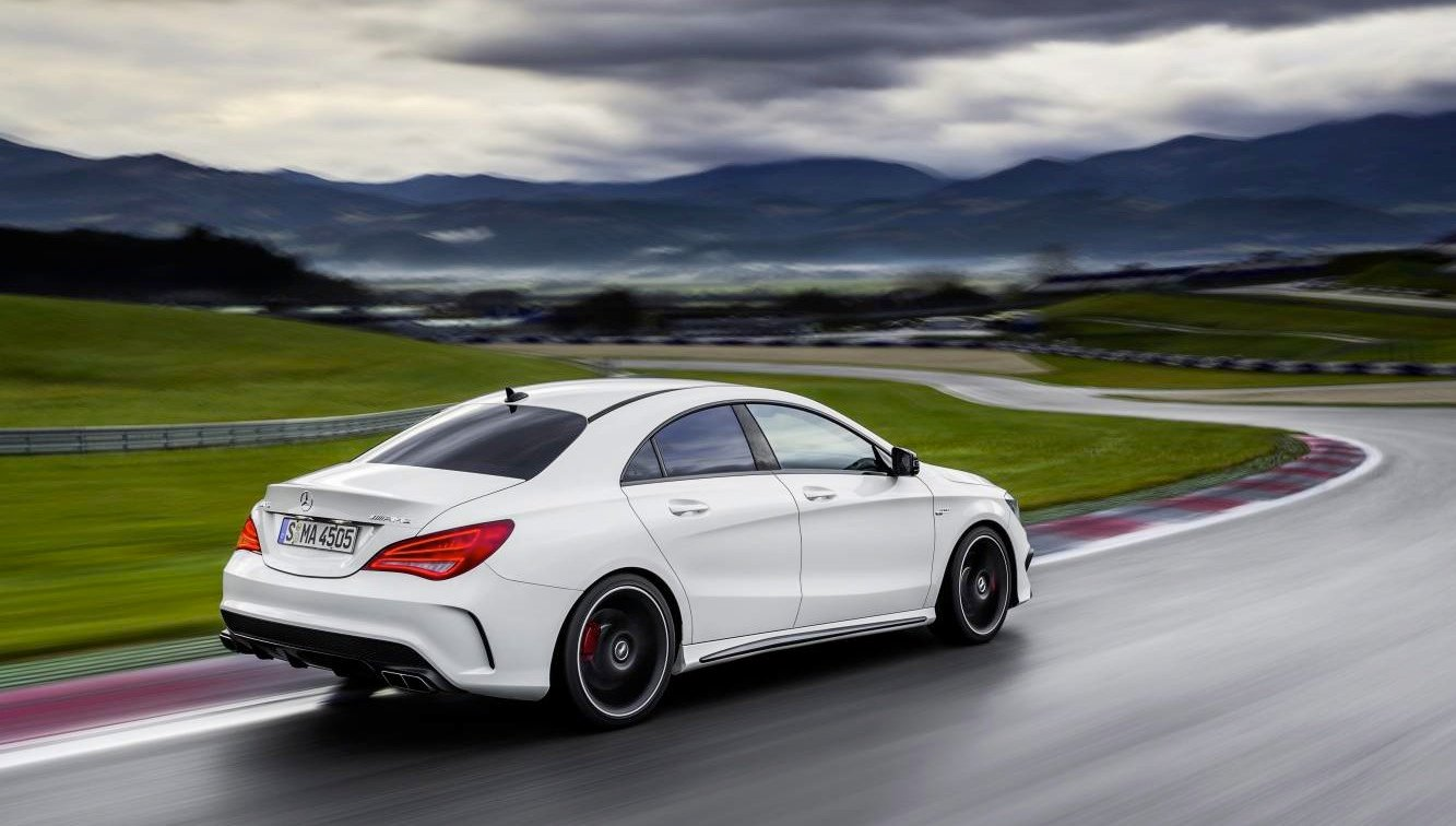 Mercedes benz cla45 amg 265kw four door coupe debuts in for Mercedes benz nyc