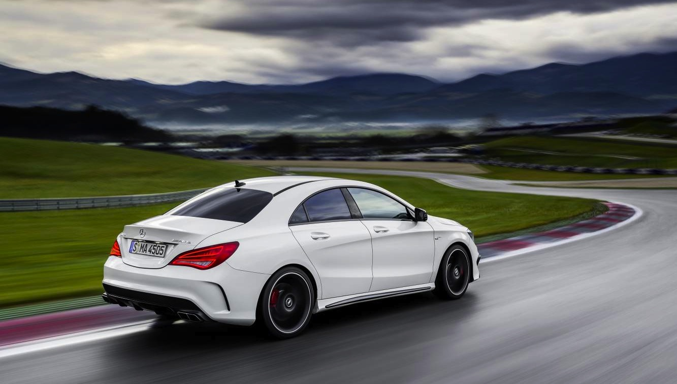 mercedes benz cla45 amg 265kw four door coupe debuts in new york photos 1 of 16. Black Bedroom Furniture Sets. Home Design Ideas