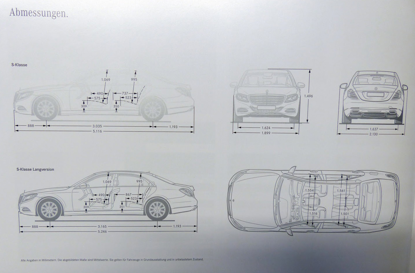 Mercedes benz s class leaked brochure reveals for Mercedes benz b class specifications
