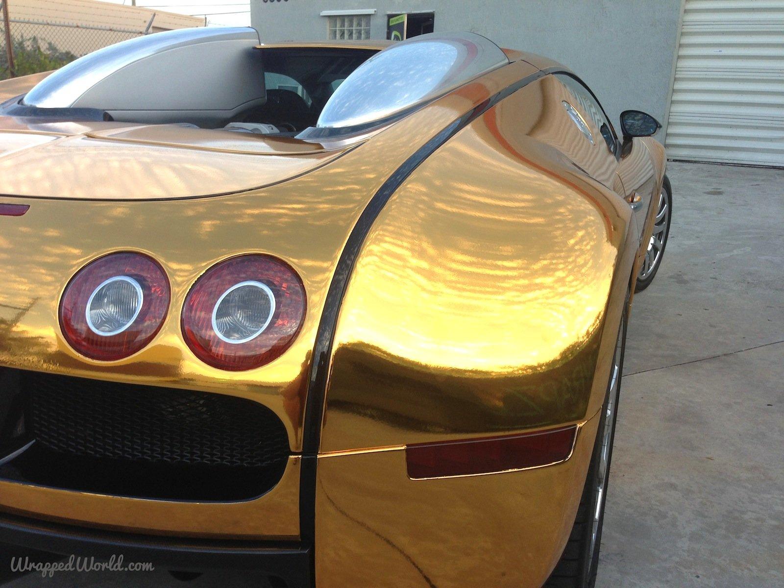 bugatti veyron gold wrapped for us rapper flo rida - Bugatti 2016 Gold