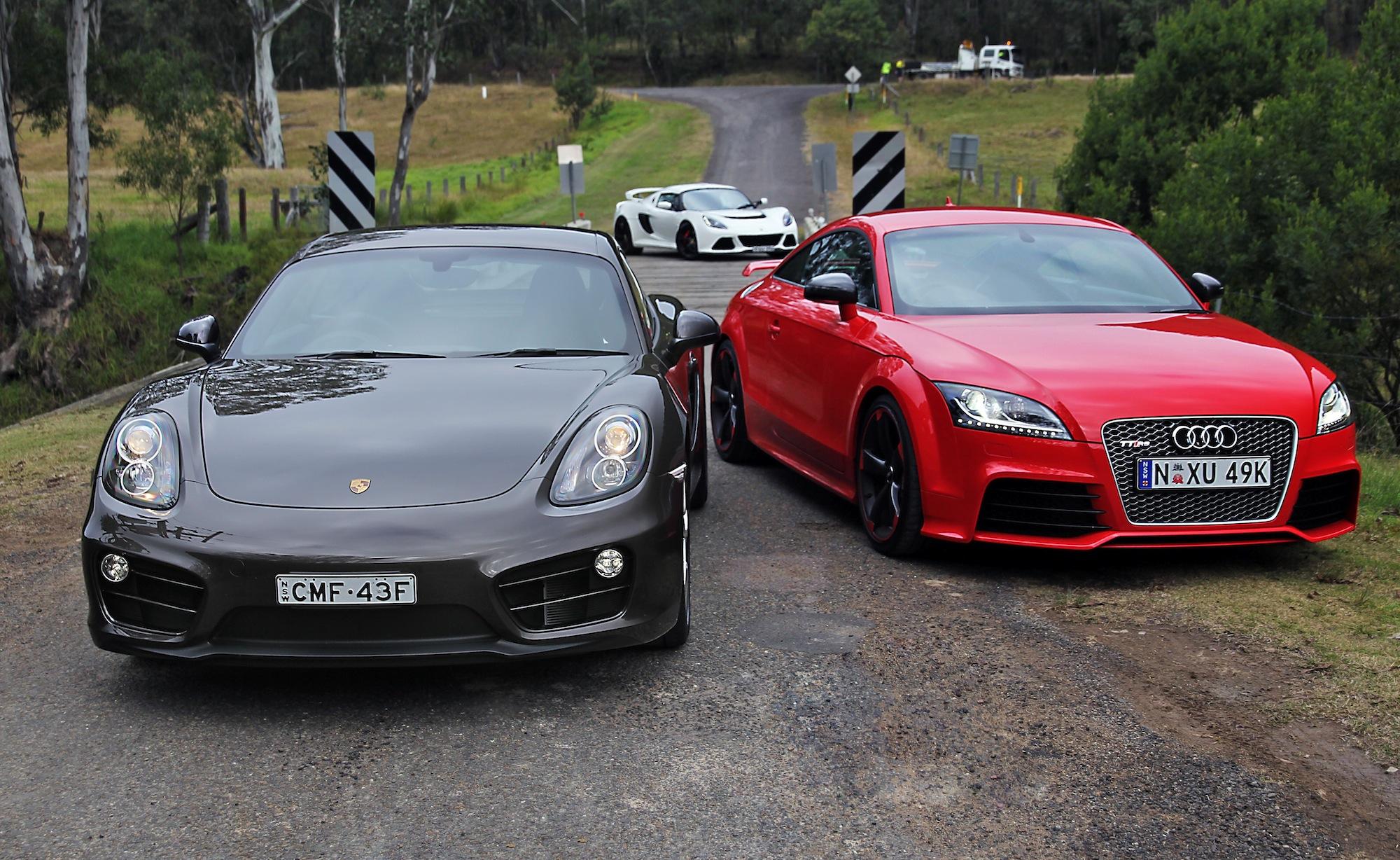 Sports Car Comparison Porsche Cayman V Audi Tt Rs V Lotus