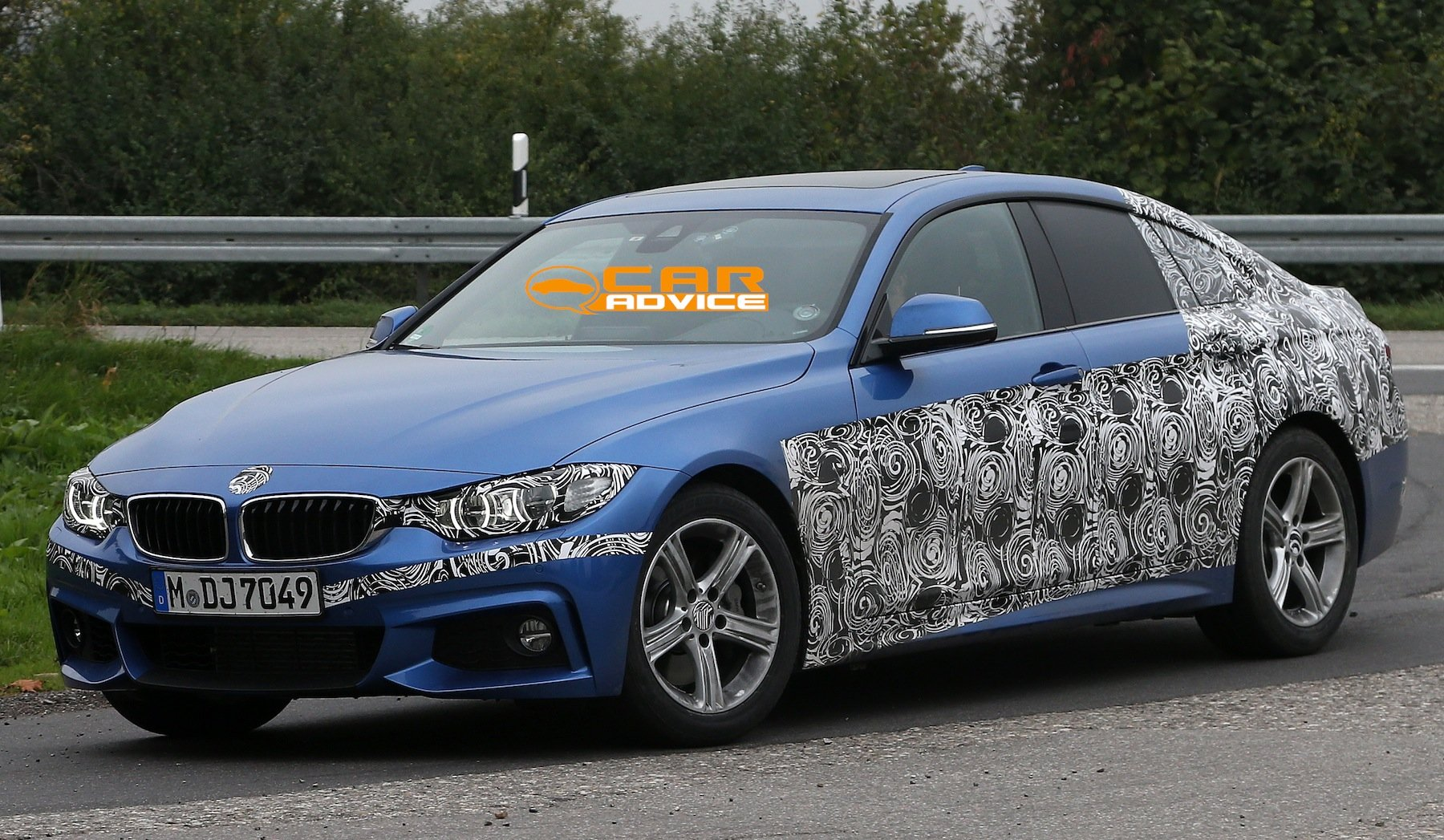 bmw 4 series gran coupe four door spied with m sport pack photos 1 of 8. Black Bedroom Furniture Sets. Home Design Ideas