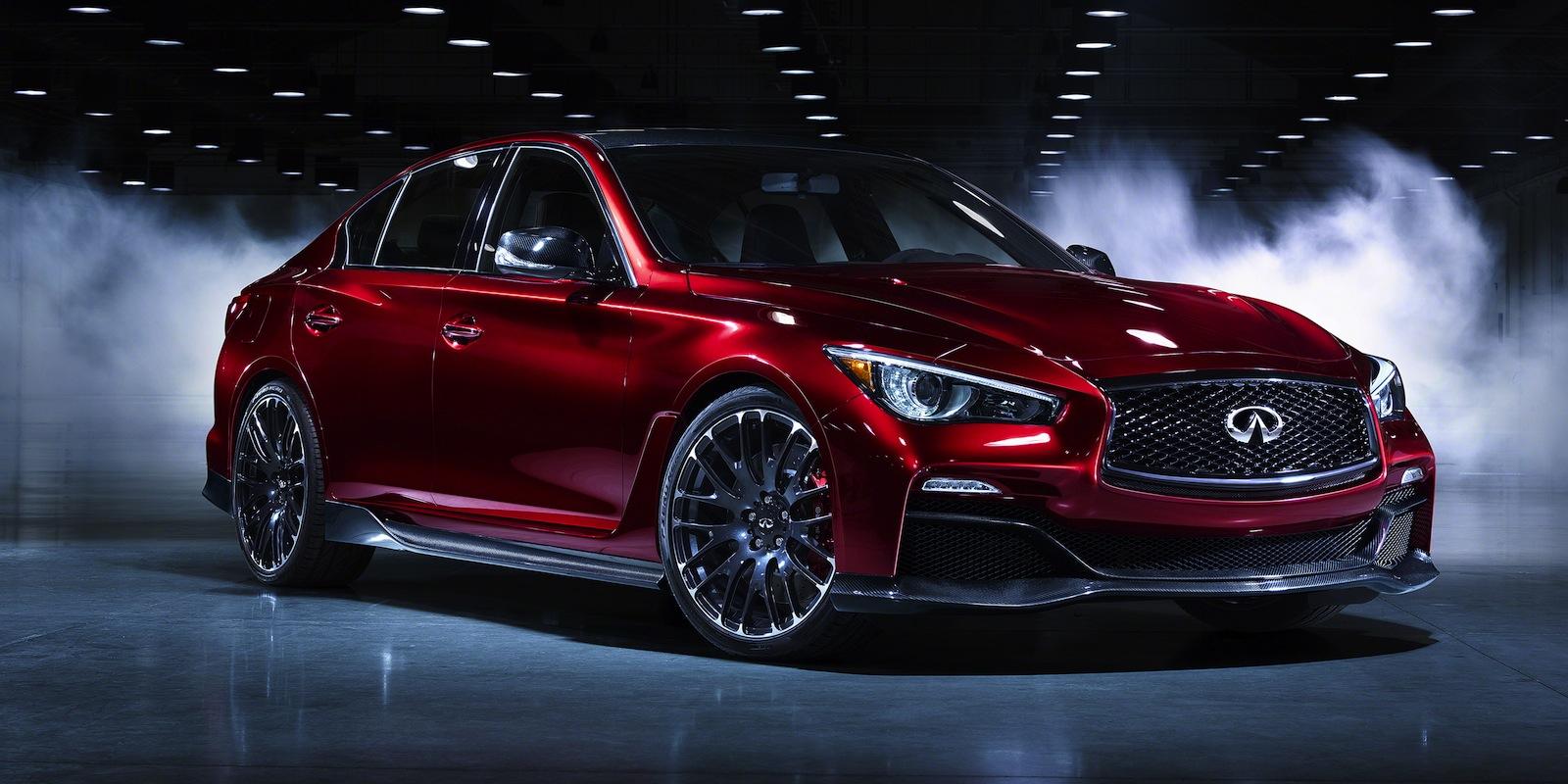 Infiniti q50 eau rouge concept teases potential 372kw 812nm sports sedan photos 1 of 16