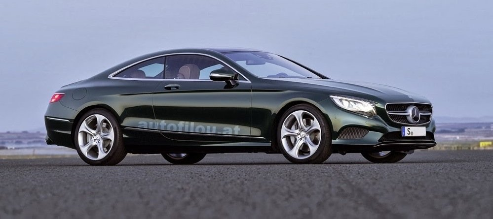 mercedes-benz s-class coupe : first images of luxury two-door