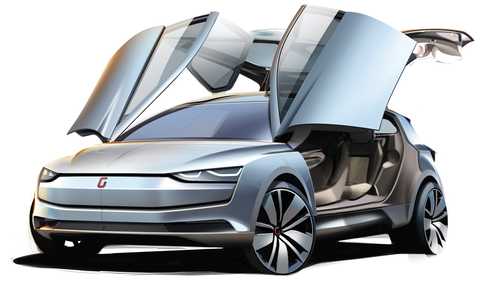 italdesign giugiaro clipper all electric four wheel drive golf inspired mpv premieres photos. Black Bedroom Furniture Sets. Home Design Ideas