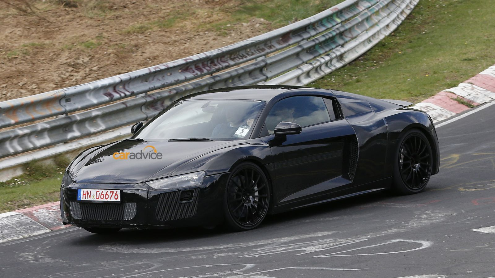 audi r8 2015 black. 2015 audi r8 spied with less camouflage black