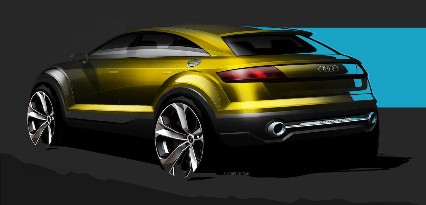 audi tt crossover concept headed to beijing photos 1 of 3. Black Bedroom Furniture Sets. Home Design Ideas