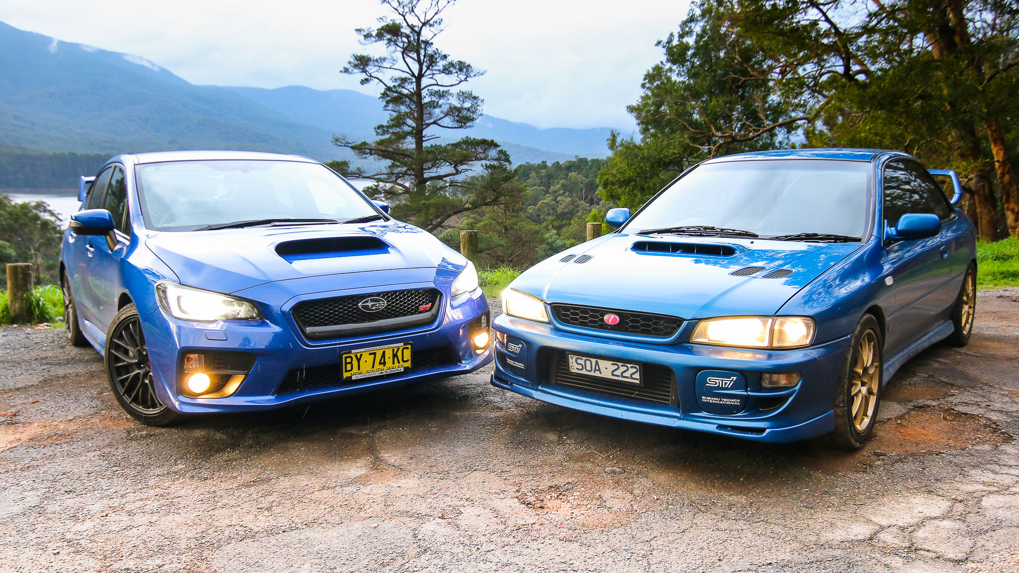 Subaru Wrx Sti Old V New Comparison 2015 Sedan V 1999 Two