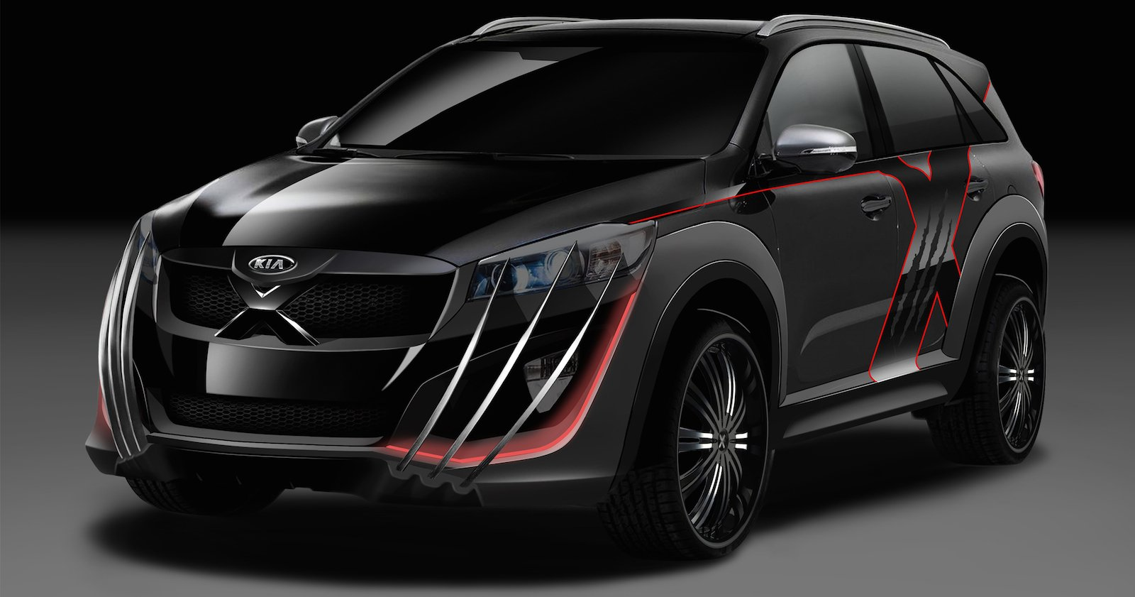clawsome kia sorento x men edition to feature at 2015 australian open photos 1 of 10. Black Bedroom Furniture Sets. Home Design Ideas