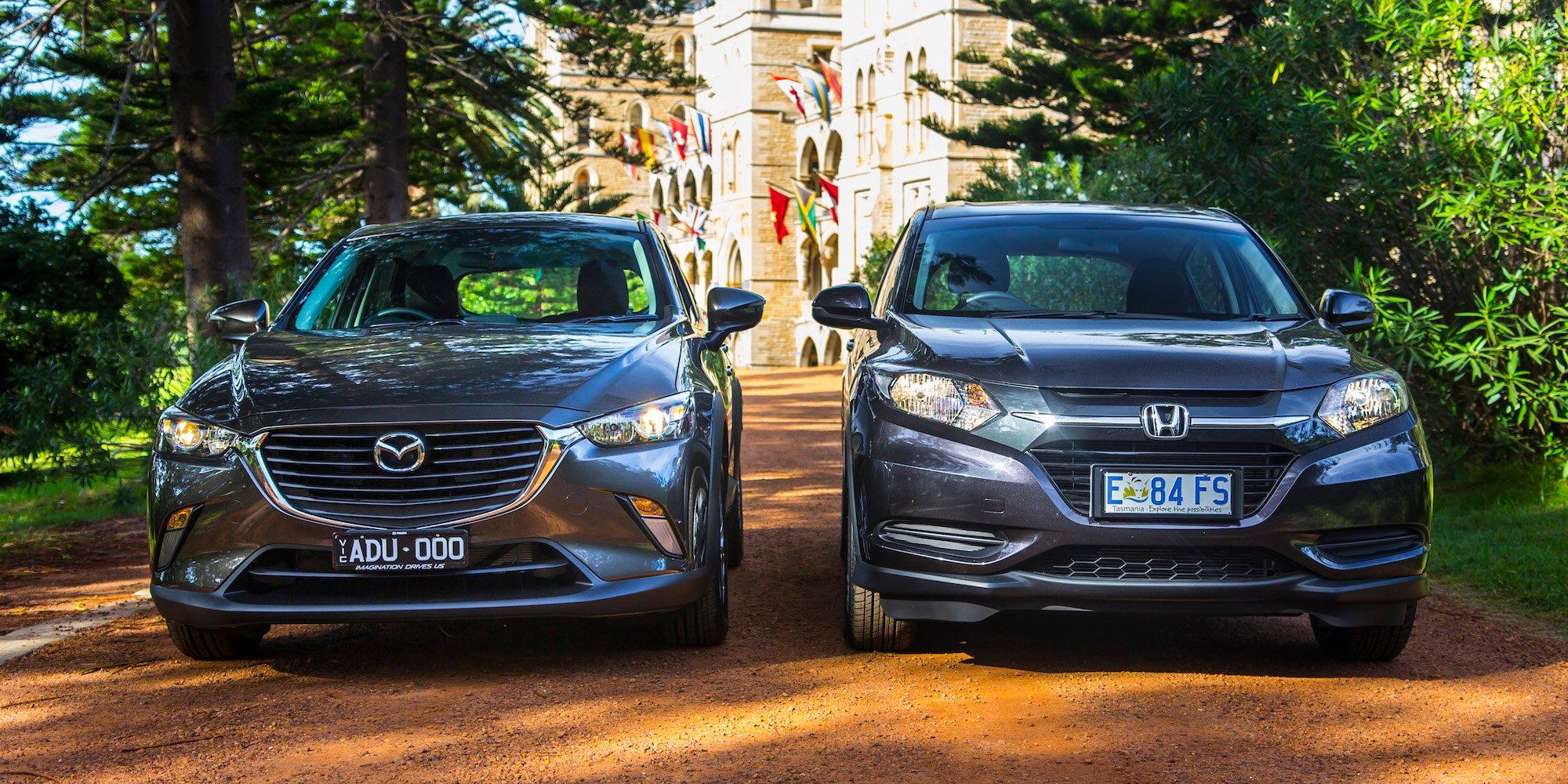 Honda Hr V Vti V Mazda Cx 3 Maxx Comparison Review Photos 1