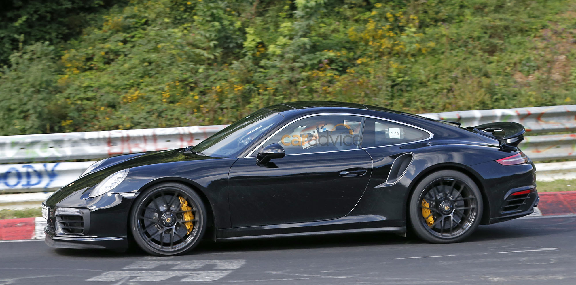 2016 porsche 911 turbo s facelift spied undisguised photos 1 of 3. Black Bedroom Furniture Sets. Home Design Ideas