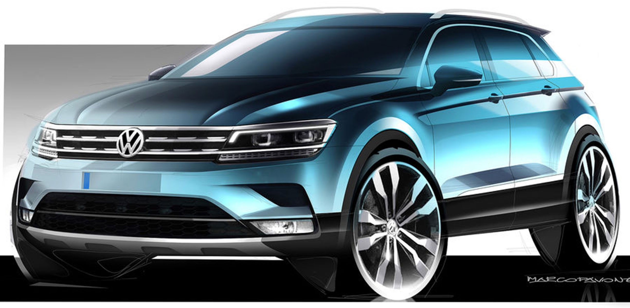 2017 volkswagen tiguan to introduce seven seat 39 coupe 39 models report photos 1 of 3. Black Bedroom Furniture Sets. Home Design Ideas