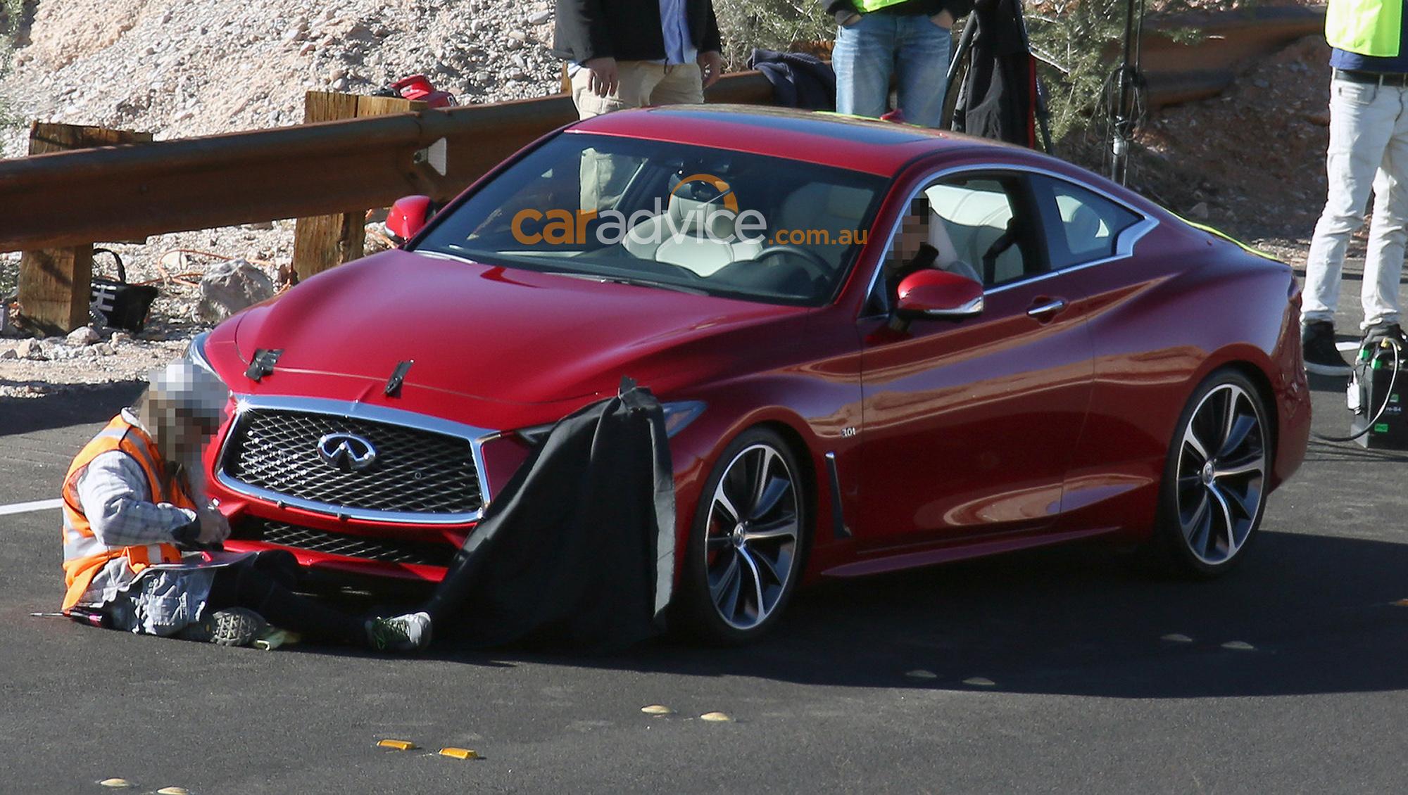 2015 Infiniti Q60 Convertible >> 2017 Infiniti Q60 coupe spied without disguise - Photos (1 of 10)