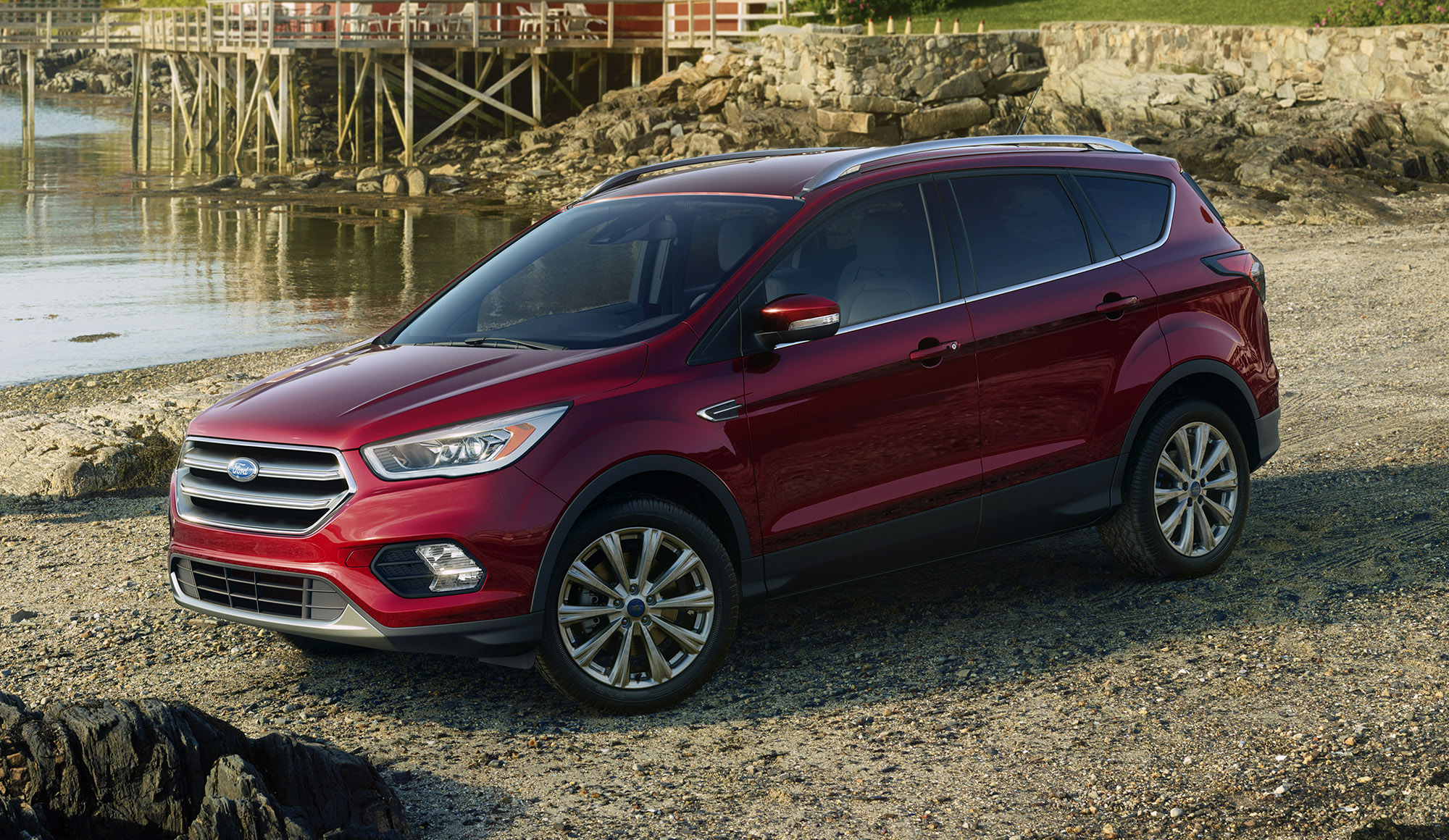 2017 ford kuga revealed as facelifted escape new looks new sync 3 connect photos 1 of 11. Black Bedroom Furniture Sets. Home Design Ideas