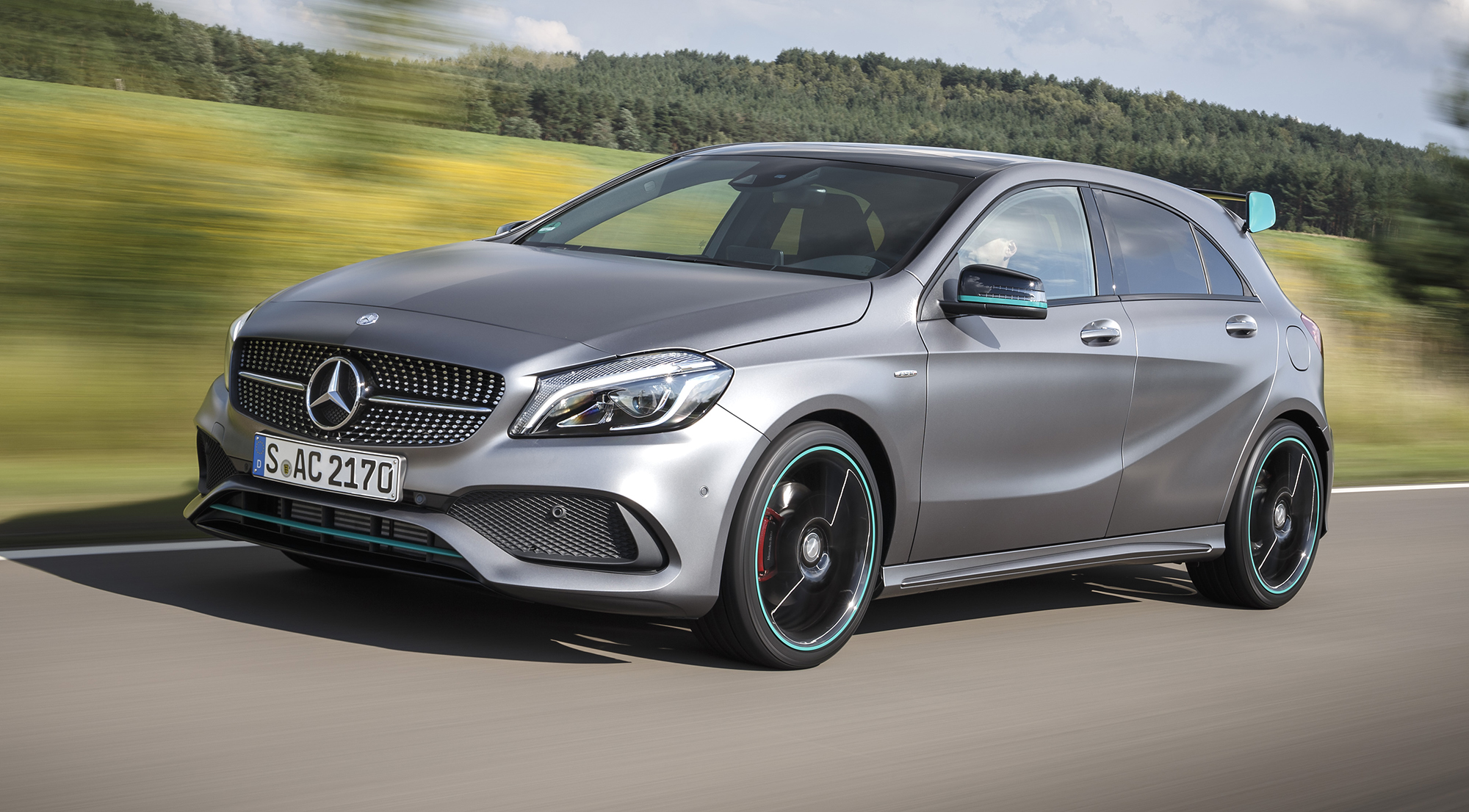 2016 mercedes benz a class amg a45 pricing and specifications styling boost upgraded features. Black Bedroom Furniture Sets. Home Design Ideas