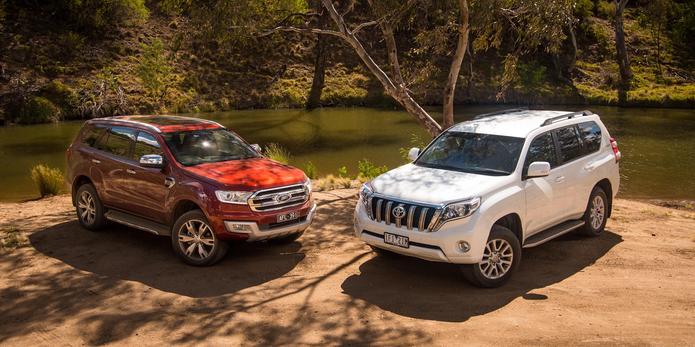 Ford Everest Titanium V Toyota Prado Vx Comparison