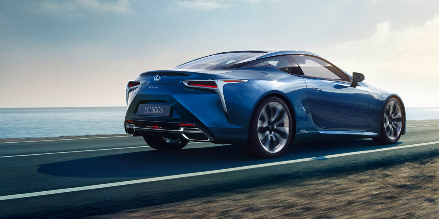 2017 lexus lc500h hybrid revealed ahead of geneva debut photos 1 of 3. Black Bedroom Furniture Sets. Home Design Ideas