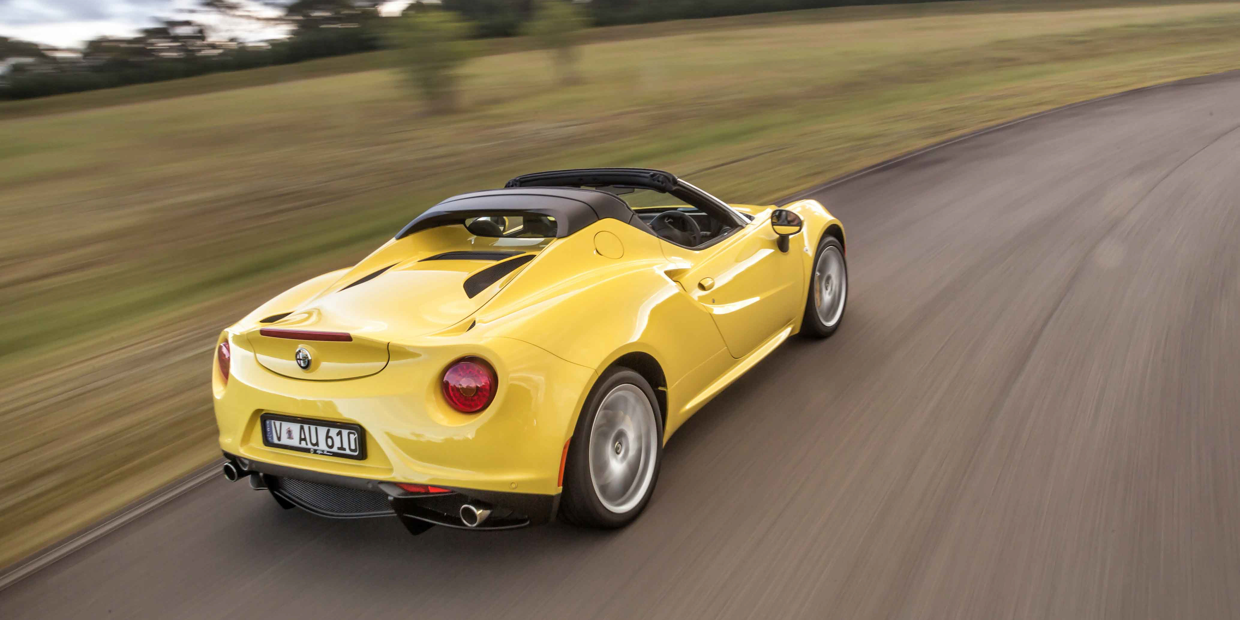 2016 alfa romeo 4c spider review caradvice. Black Bedroom Furniture Sets. Home Design Ideas