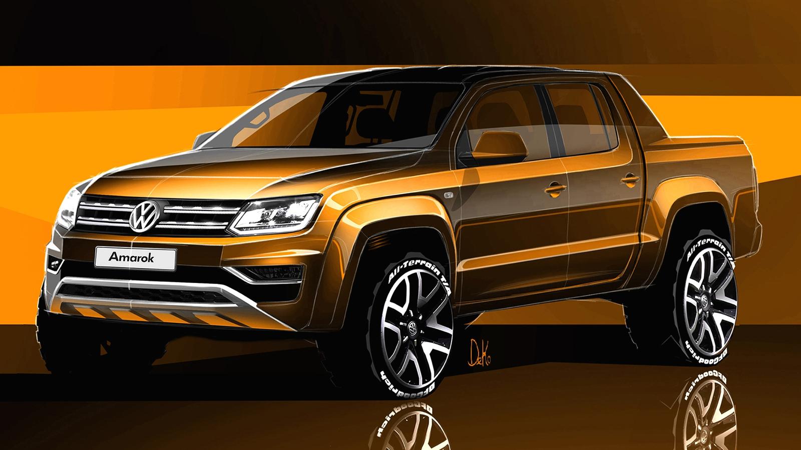 2017 Volkswagen Amarok sketches revealed - Photos (1 of 9)