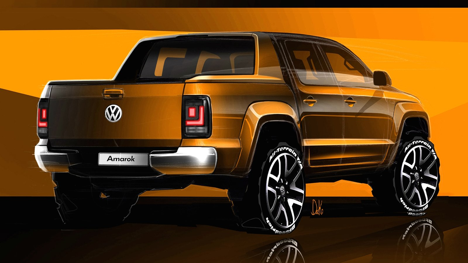 2017 volkswagen amarok sketches revealed photos 1 of 9. Black Bedroom Furniture Sets. Home Design Ideas