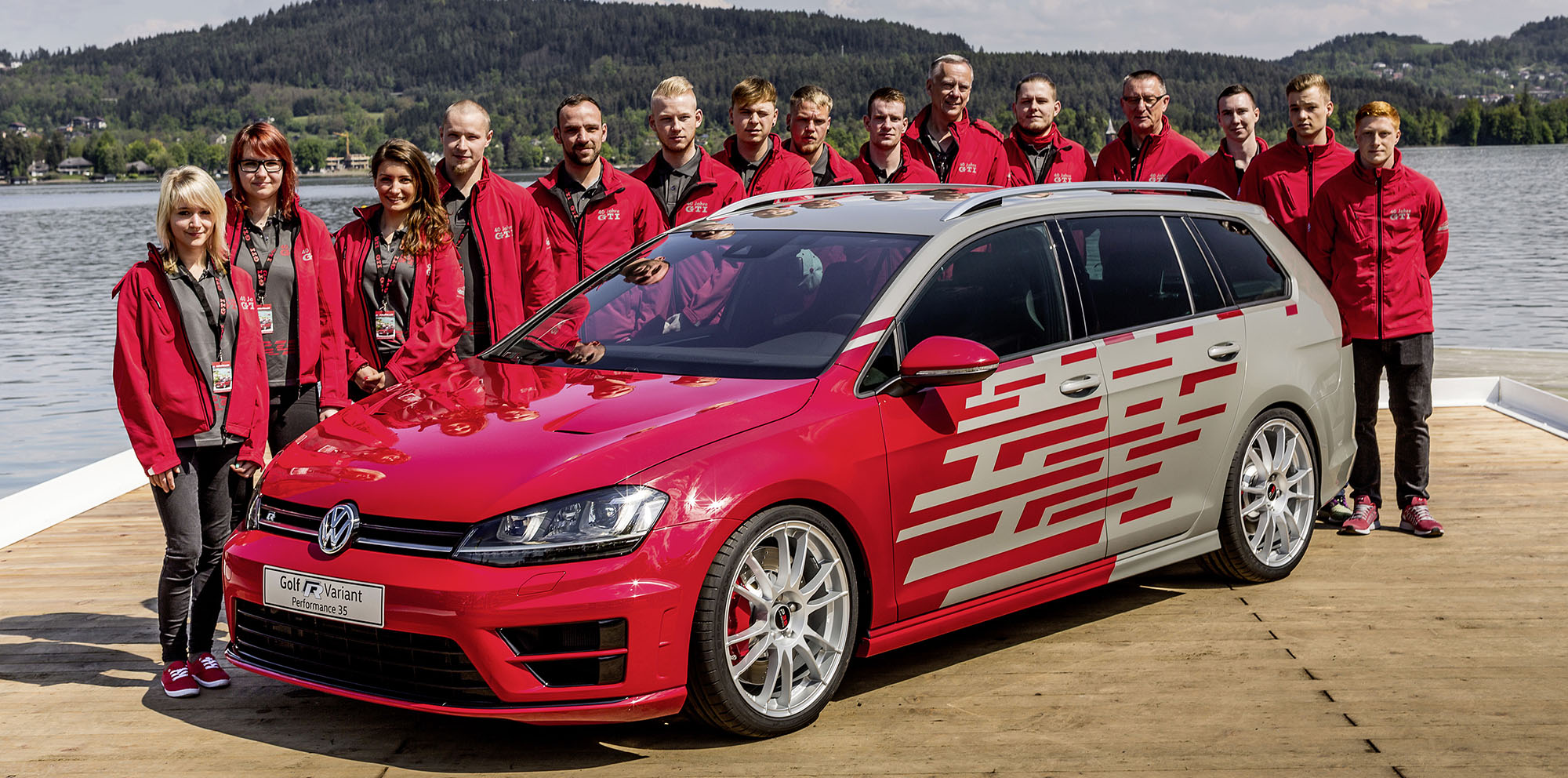 volkswagen golf gti heartbeat and golf r variant performance 35 concepts unveiled