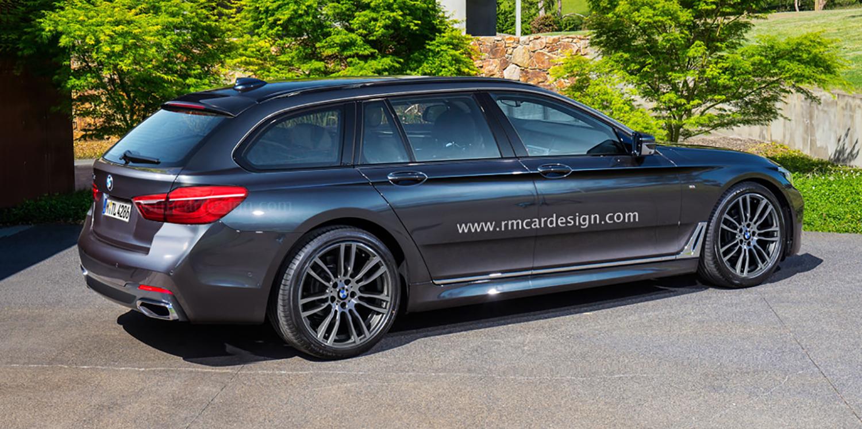 2017 BMW 5 Series sedan and Touring wagon rendered ...