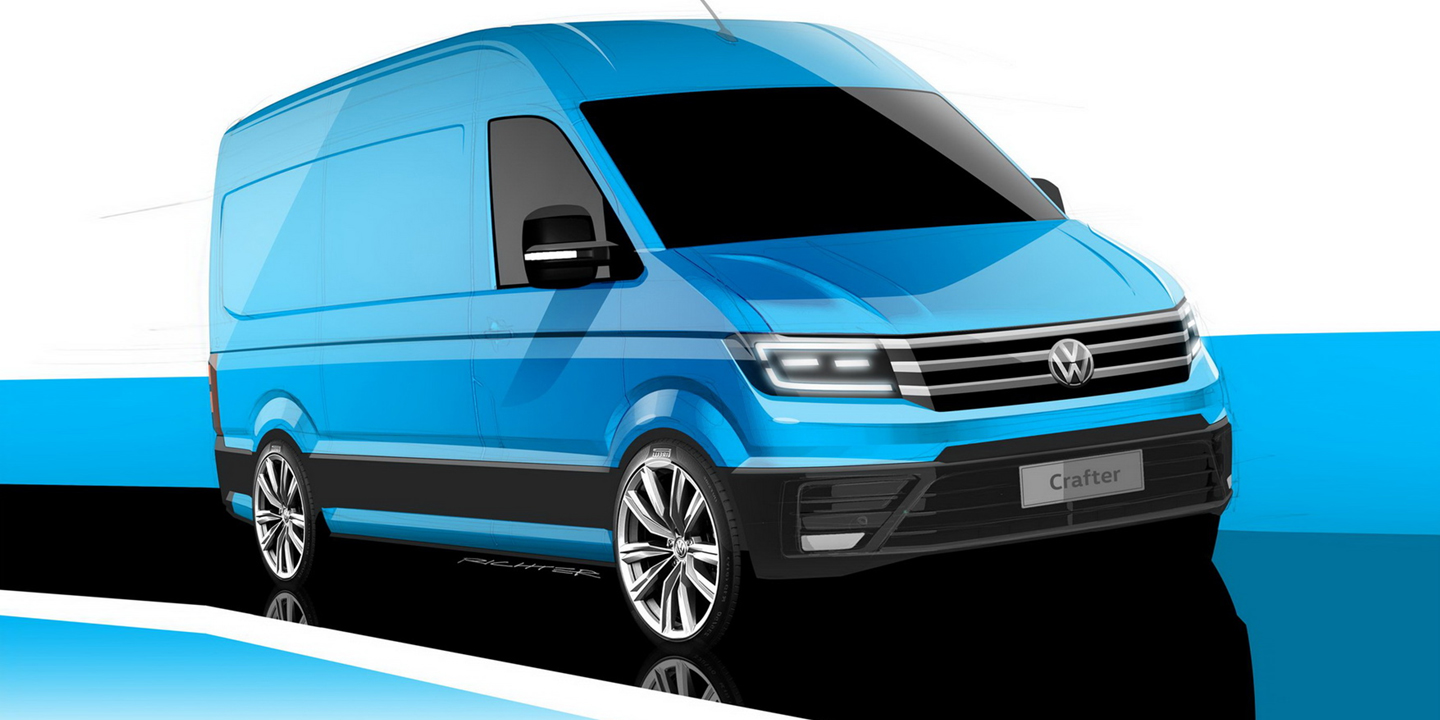 2017 volkswagen crafter previewed ahead of september debut photos 1 of 3. Black Bedroom Furniture Sets. Home Design Ideas