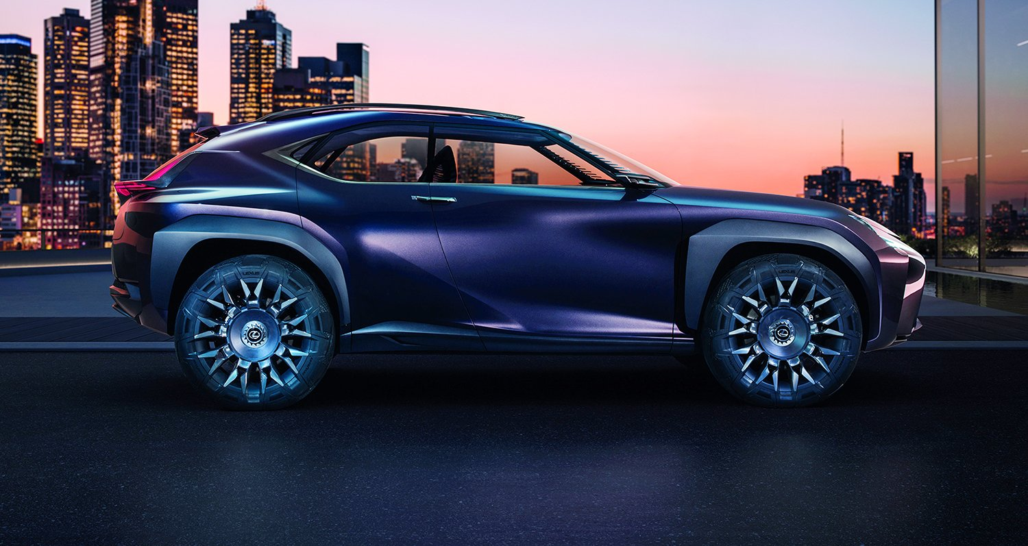 lexus ux concept reveals compact suv plans in paris photos 1 of 12. Black Bedroom Furniture Sets. Home Design Ideas