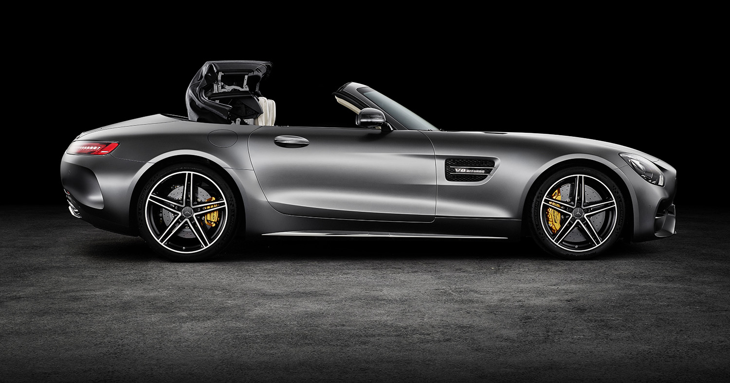 2017 mercedes amg gt c roadster revealed new powered up. Black Bedroom Furniture Sets. Home Design Ideas