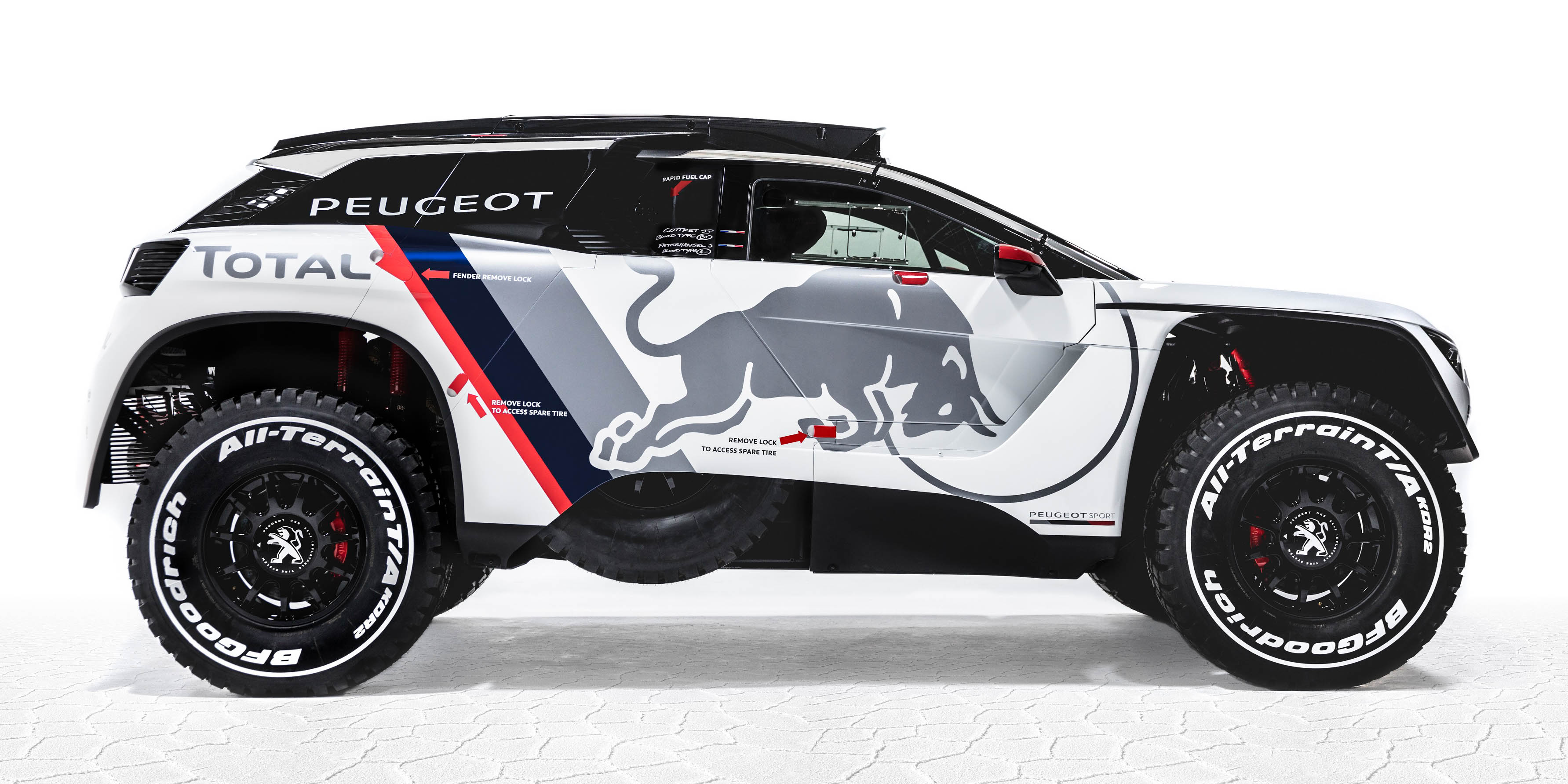 2017 peugeot 3008 dkr twin turbo rear drive suv revealed for 2017 dakar rally photos 1 of 8. Black Bedroom Furniture Sets. Home Design Ideas