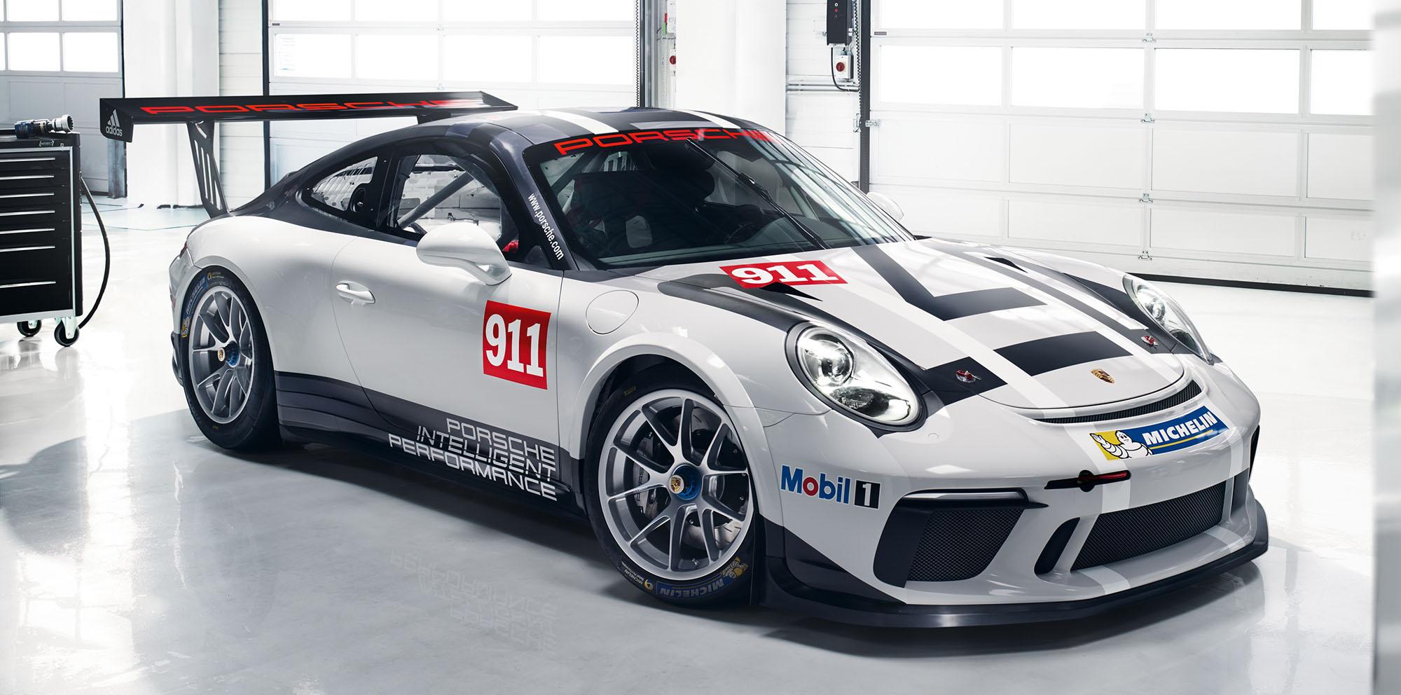 2017 porsche 911 gt3 cup race car unveiled photos 1 of 6. Black Bedroom Furniture Sets. Home Design Ideas