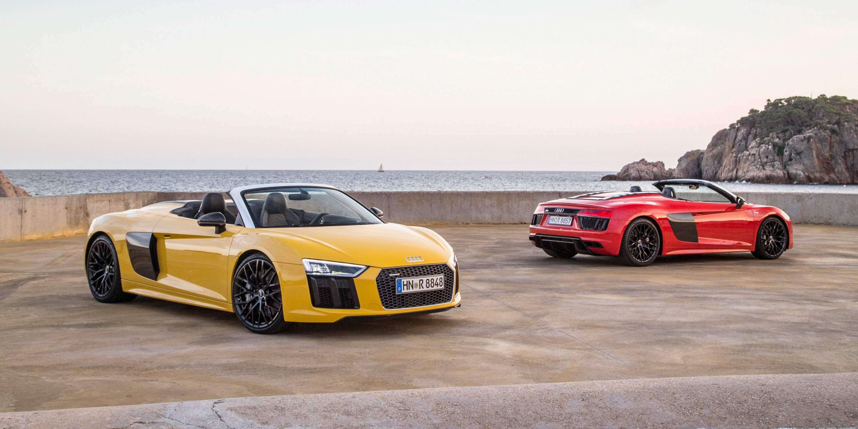 2017 audi r8 spyder pricing and specs lighter stiffer and faster droptop here next year. Black Bedroom Furniture Sets. Home Design Ideas