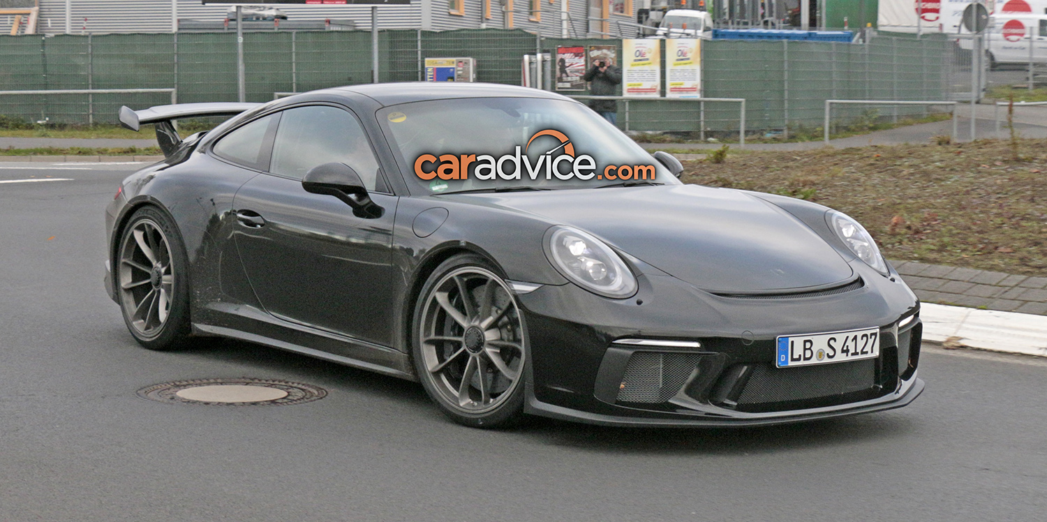 2017 porsche 911 gt3 facelift spied at the nurburgring photos 1 of 16. Black Bedroom Furniture Sets. Home Design Ideas