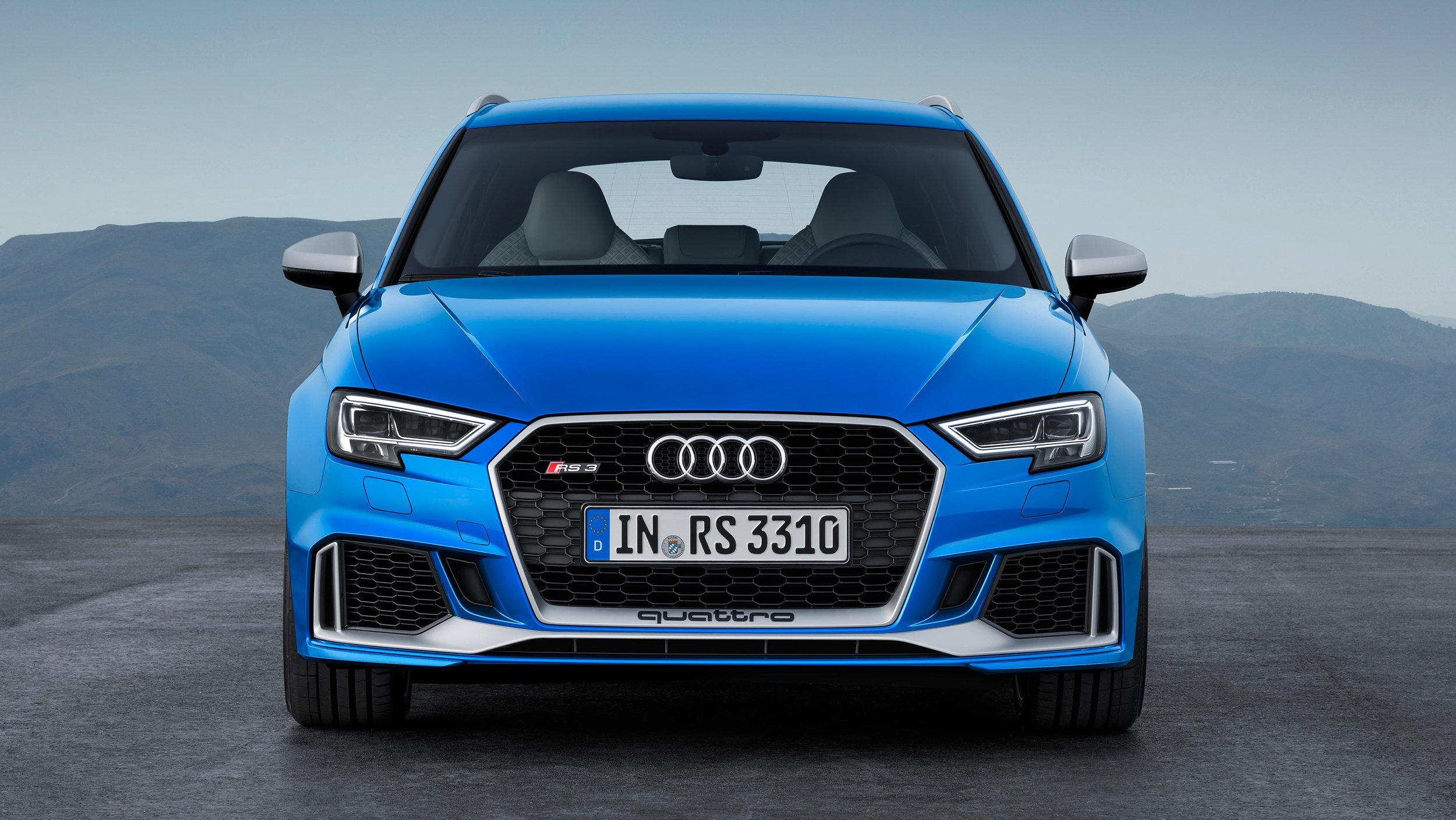 2018 audi rs3 sportback faster lighter more powerful photos 1 of 5. Black Bedroom Furniture Sets. Home Design Ideas