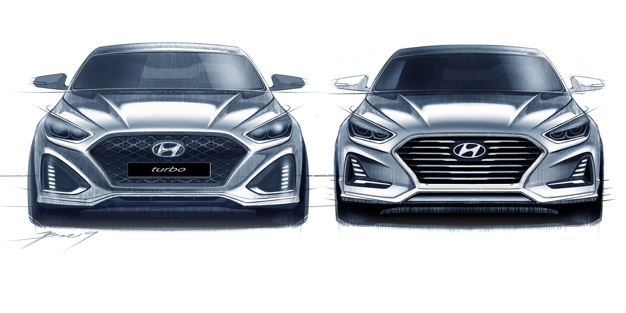 2018 hyundai sonata facelift. beautiful facelift 2018 hyundai sonata facelift sketches go official  update on hyundai sonata u