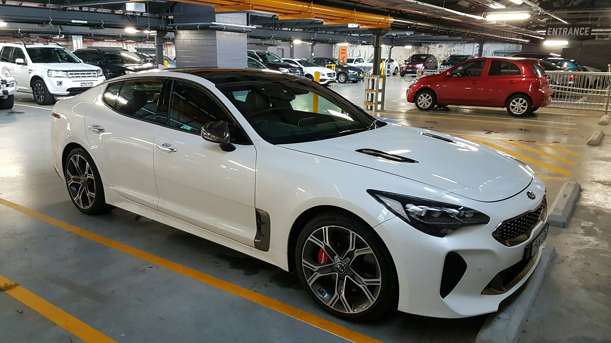 Kia Optima 2017 White >> 2017 Kia Stinger GT spied testing in Sydney - Photos (1 of 4)