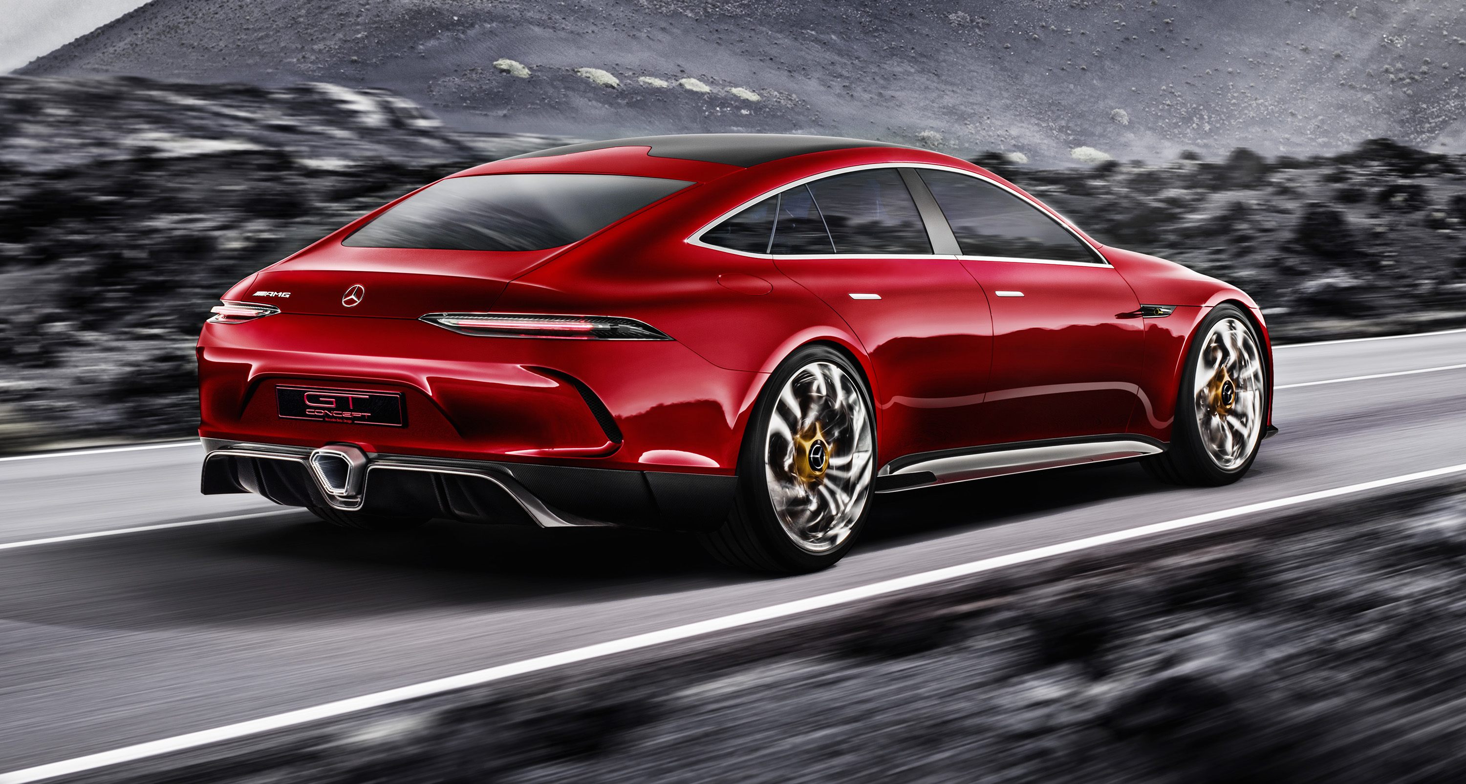 Mercedes amg gt four door concept revealed photos 1 of 17 for Mercedes benz 4 door