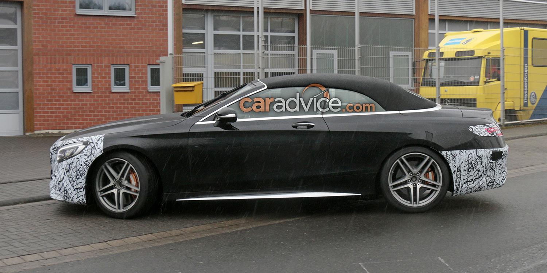 2018 mercedes amg s63 cabriolet update spied photos 1 of 10. Black Bedroom Furniture Sets. Home Design Ideas