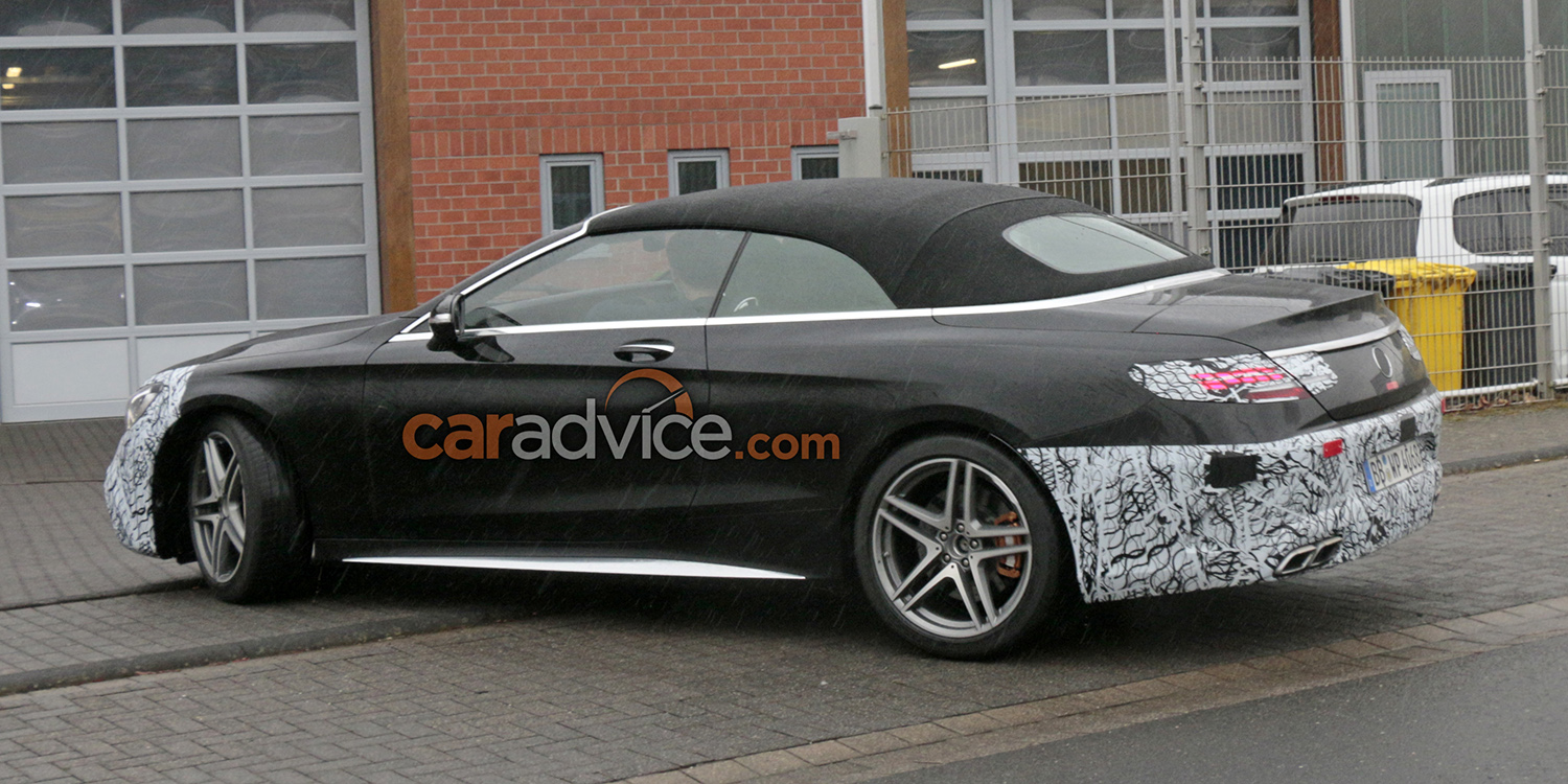 2018 Mercedes-AMG S63 Cabriolet update spied - Photos (1 of 10)