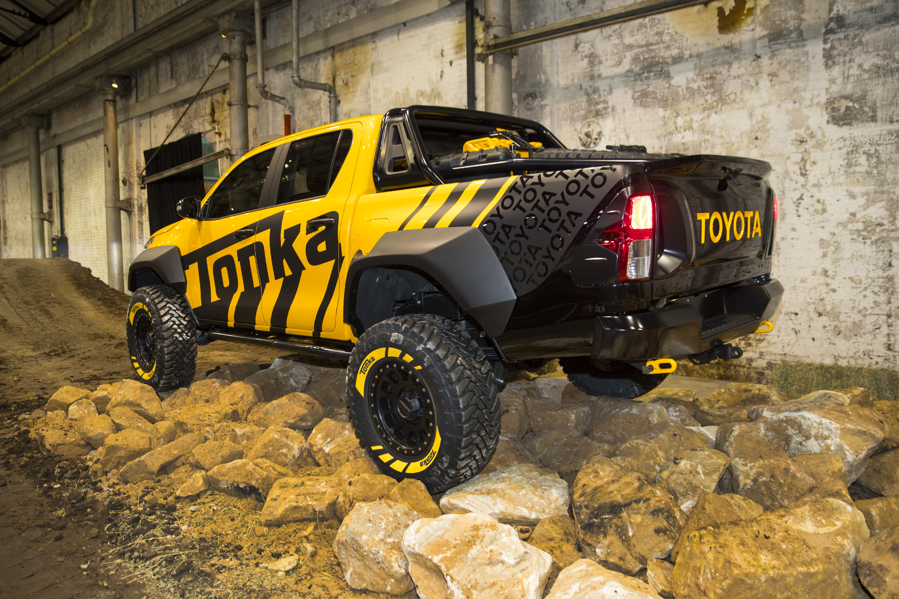 Playtime in the Toyota HiLux Tonka concept and 2017 Toyota ...