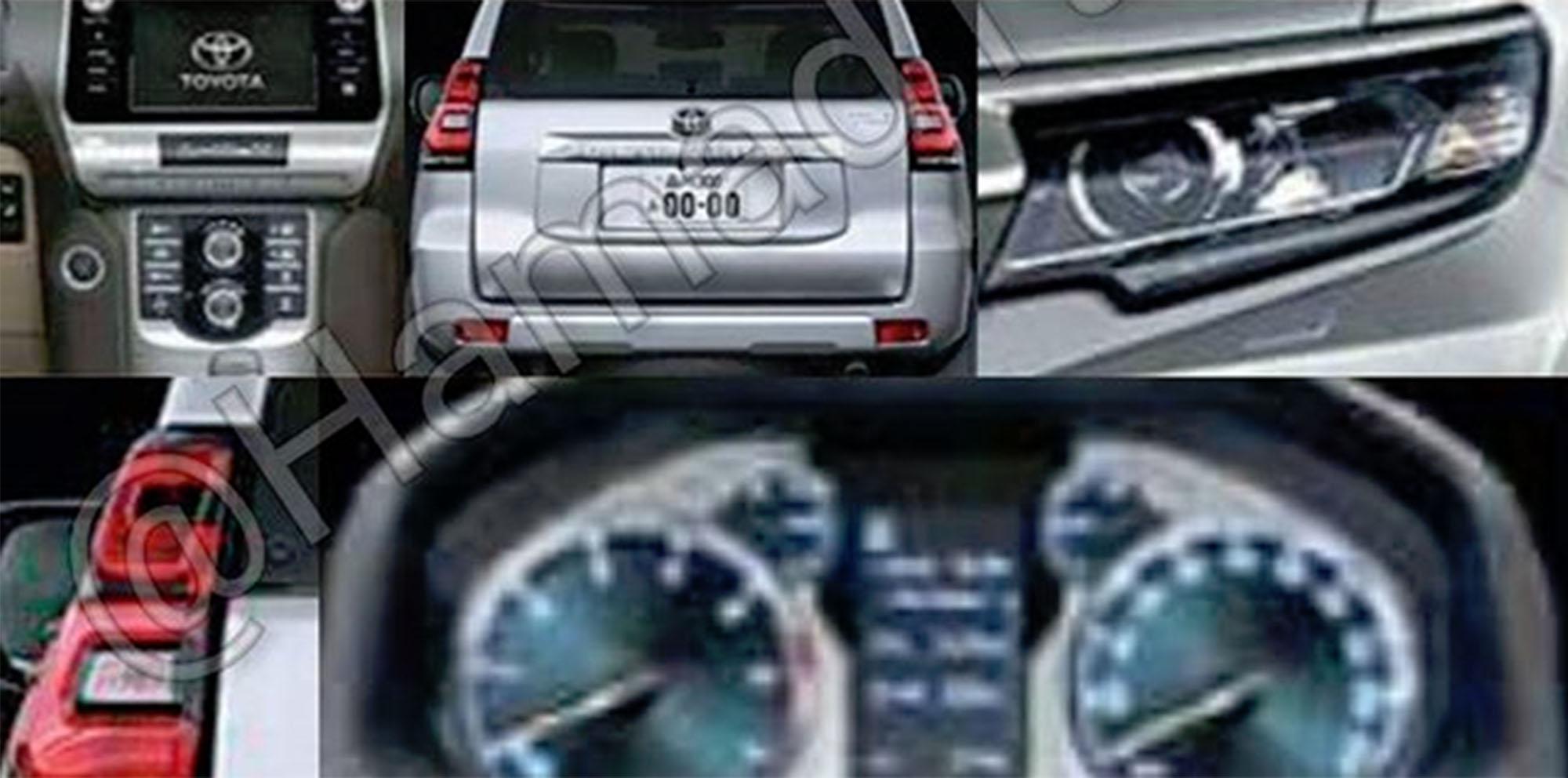 2018 toyota land cruiser prado. plain toyota 2018 toyota prado facelift leaked  update to toyota land cruiser prado