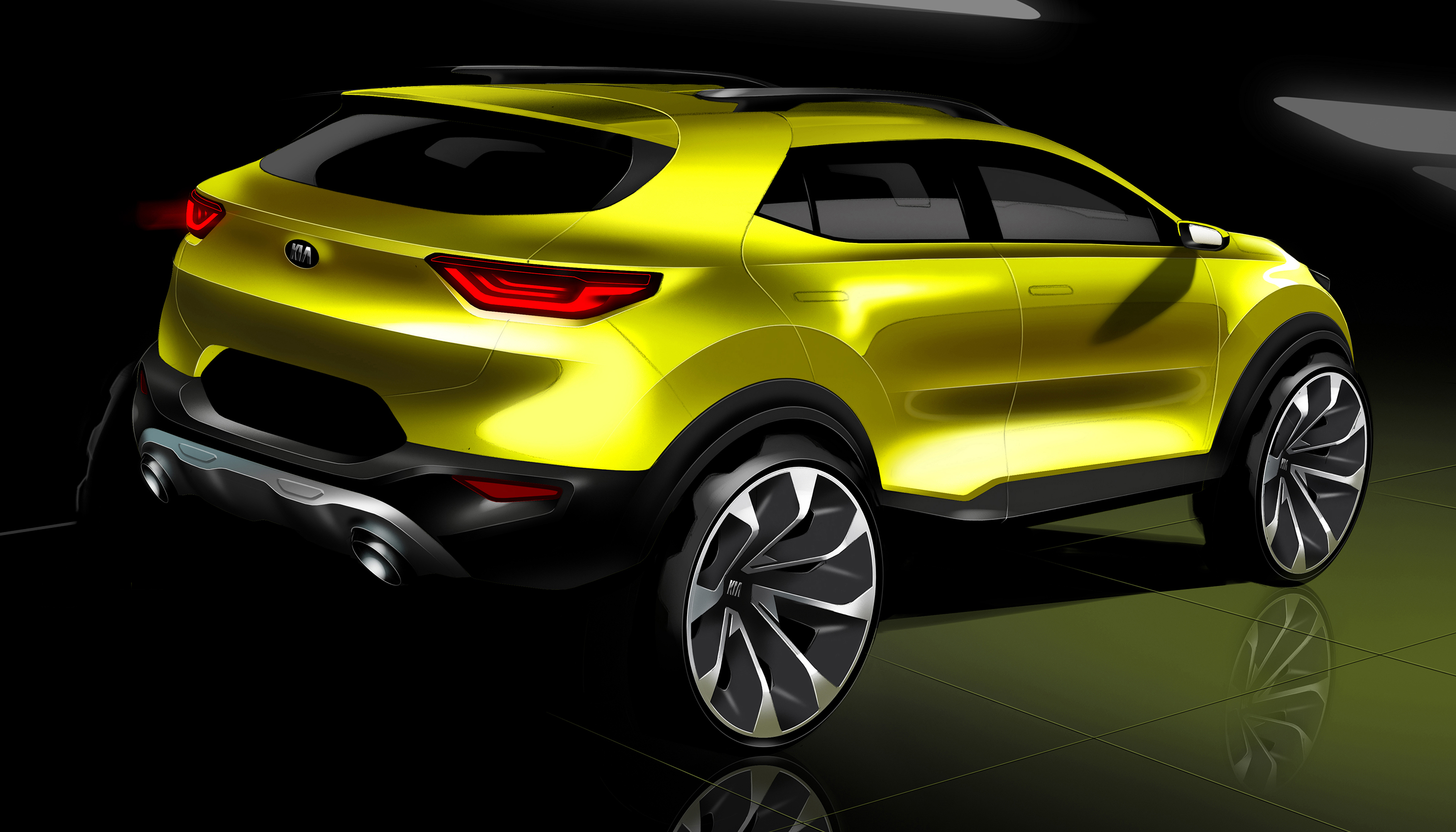 2018 kia stonic previewed in new sketches update photos 1 of 3. Black Bedroom Furniture Sets. Home Design Ideas