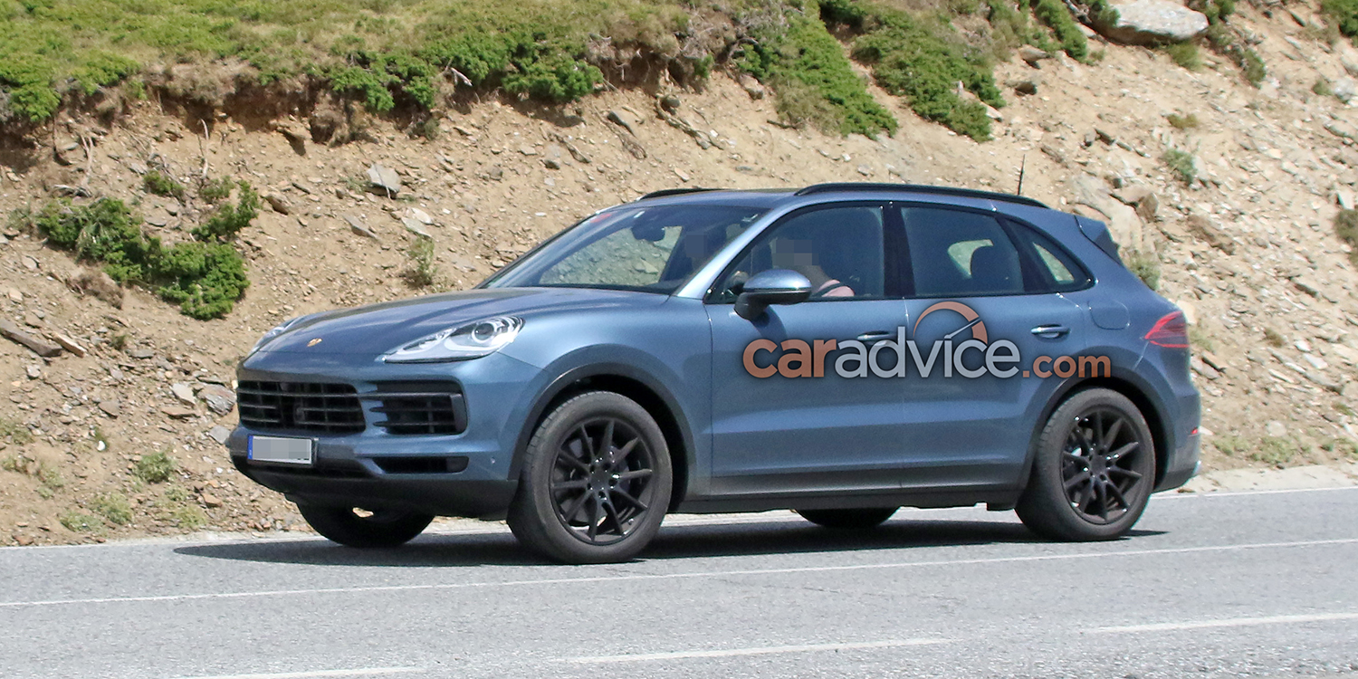 2018 porsche cayenne spied with almost no camouflage photos 1 of 13. Black Bedroom Furniture Sets. Home Design Ideas